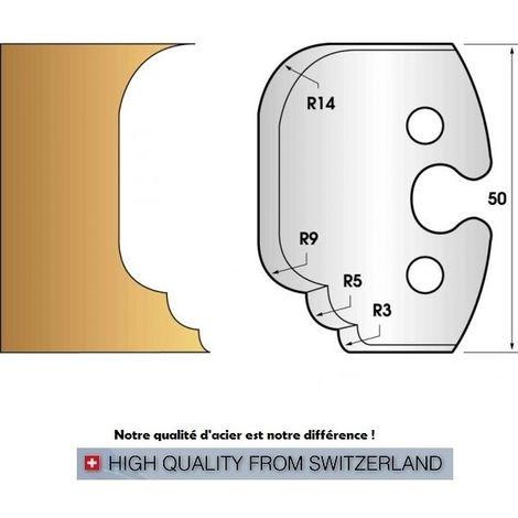 Paire de fers de toupie hauteur 50 mm n° 225 - multi congés