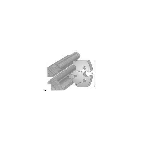 Paire de fers de toupie hauteur 50 mm n° 233 - profils multiples