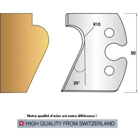 Paire de fers de toupie hauteur 50 mm n° 248 - Nez de marche