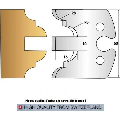 Paire de fers de toupie hauteur 50 mm n° 251 - profil
