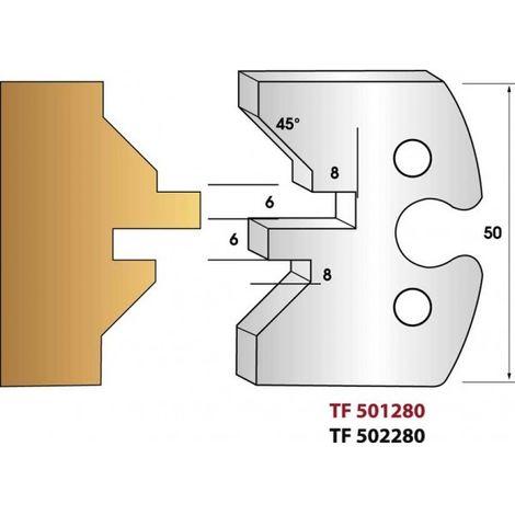 Paire de fers de toupie hauteur 50 mm n° 280 - lames de volets