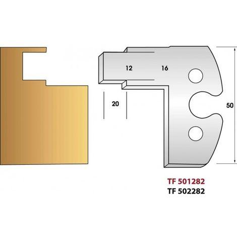 Paire de fers de toupie hauteur 50 mm n° 282 - crémone 16mm