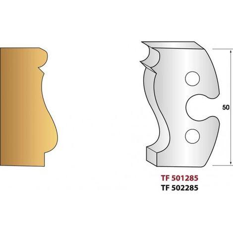 Paire de fers de toupie hauteur 50 mm n° 285 - Louis XV