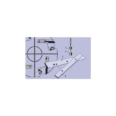 Paire de fers minces 150 mm réversibles rabot degauchisseuse Kity K5 / bestcombi sur table