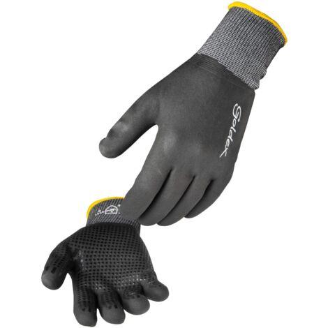 Paire de gants nitrile mousse tout enduit. Support polyamide/Elasthanne sans couture. Jauge 15. Singer NYMFIT02 Taille 9