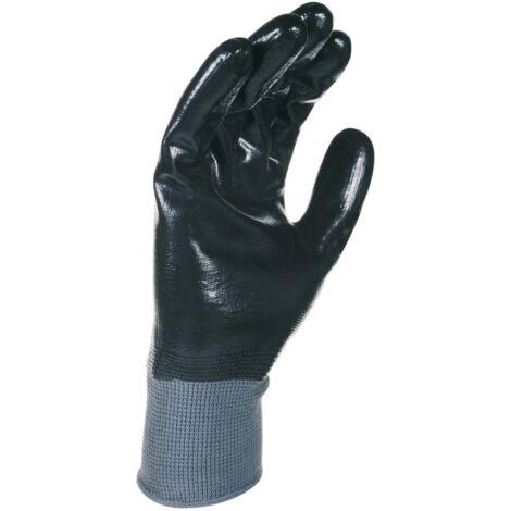 Paire de gants nitrile tout enduit. Support polyester. Jauge 15 Singer NYM157NB Taille 10