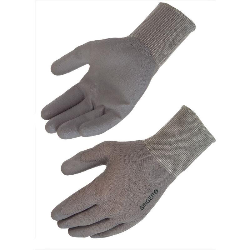 Singer Freres - SINGER - Paire de gants polyuréthane (PU), support polyamide - Jauge 15 - Taille 8 - NYM15PUG