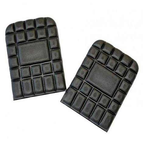 Paire de genouillères en mousse 100% polyéthylène - Gamme accessoires - NICKEL - NOIR - 9921 - LMA Lebeurre - taille: