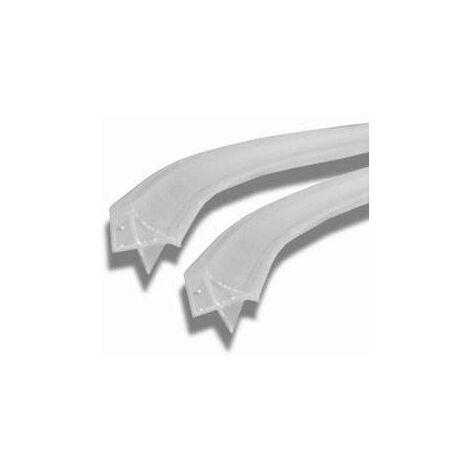 Paire de joints horizontaux pour paroi de douche courbée Novellini R51GIR031-TR | joint d'étanchéité