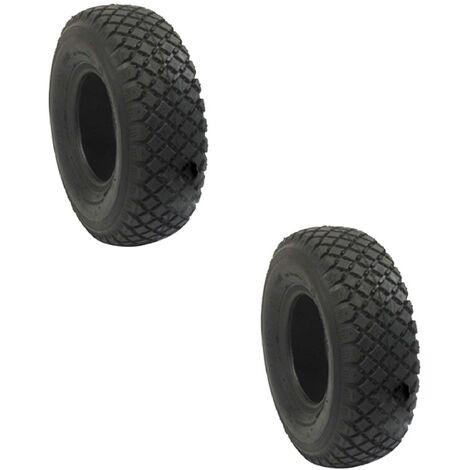 Paire de pneus 4 Plis 410/350-4 pour tondeuse autoportée