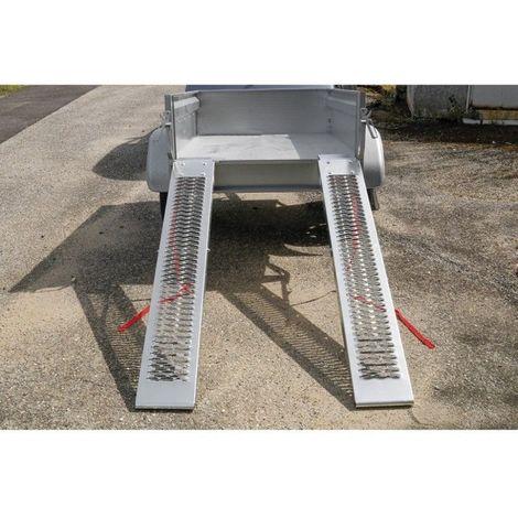 Paire De Rampes De Chargement En Acier - 160 cm Charge Maximale 400 kg