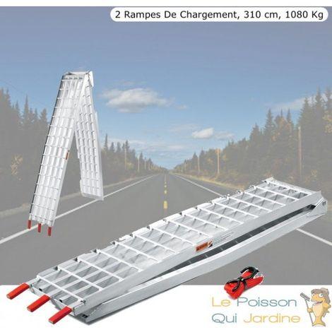 Paire De Rampes De Chargement Pliables Quad- Voiture, 310 cm, 1080 kg