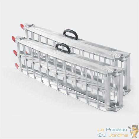 Paire de Rampes Pliables de Chargement Quad- Voiture - 226 cm 680 kg