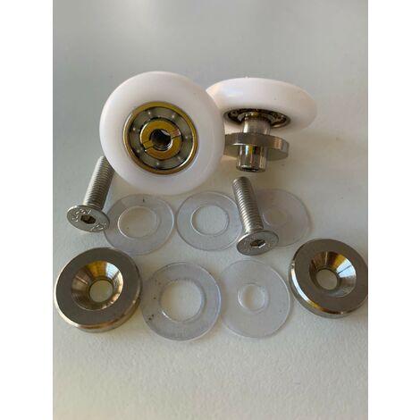 Paire de roulements pour caisson de douche ZEPHYROS 2012 2A Novellini R07ELYA1-TR   roues