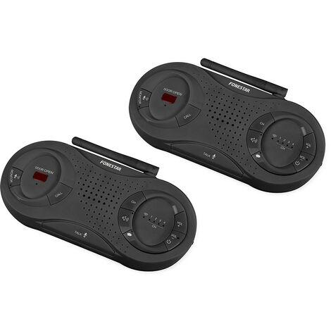 Paire d'interphones sans fil Rf Kw-866 avec fonction mains libres et mode de diffusion