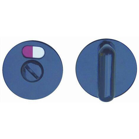 Paire rosace serrure S80 NORMBAU - WC - Noir 16 - 358360