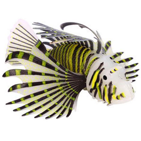 Paisajismo de acuario, pez leon falso luminoso, marron