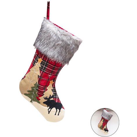 Paises Bajos Paises Bajos De Noel de Noel Decoracion de Navidad que cuelgan de la tela escocesa de arboles de navidad De A La Familia Fiesta de Navidad, Modelo de Navidad en los arboles en marron claro