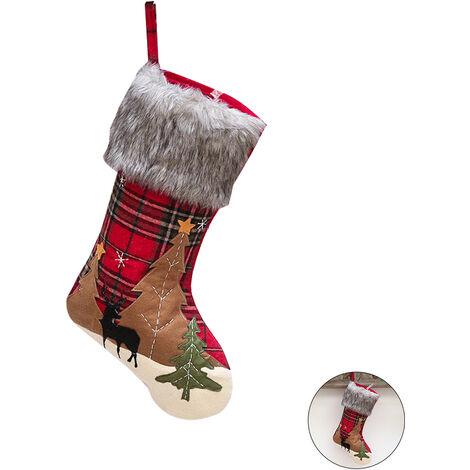 Paises Bajos Paises Bajos De Noel de Noel Decoracion de Navidad que cuelgan de la tela escocesa de arboles de navidad De A La Fiesta de Navidad de la familia