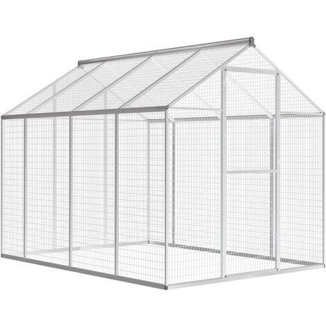 Pajarera exterior de aluminio 178x242x192 cm - Gris