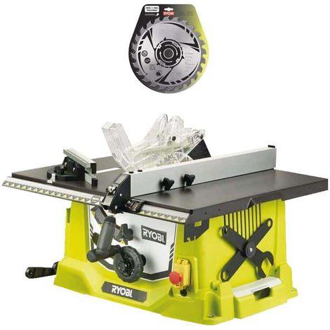 Paket RYOBI Elektrische Tischsäge 1800W 254mm RTS1800-G - Hartmetallklinge 254mm 24 Zähne SB254T24A1