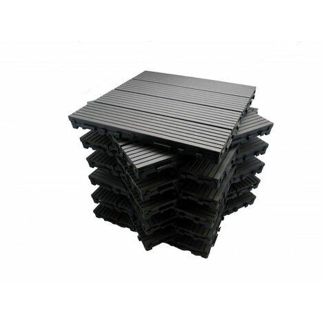 Paket Terrassenfliesen 1 m² aus Holzverbundstoff Modular (11 Fliesen 30 x 30 cm)