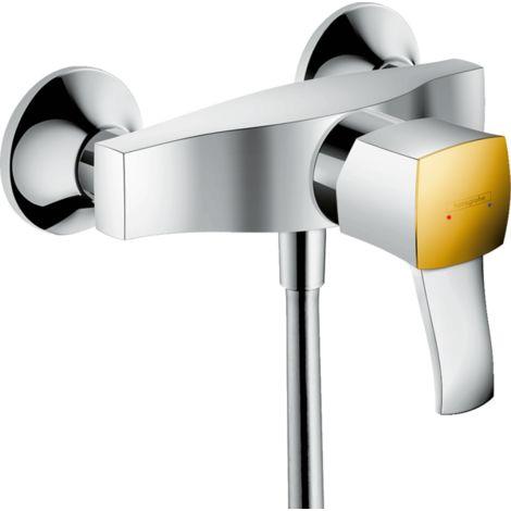 Páková sprchová nástěnná baterie s páčkovou rukojetí, chrom