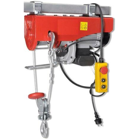 Palan à cable électrique d'atelier 500 / 999 kg avec poulie mouflage - 1300 w