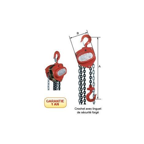 Palan à main à chaine Haltir 6044 - plusieurs modèles disponibles
