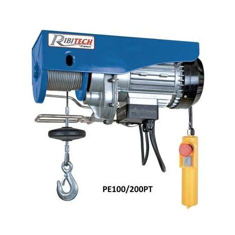 Palan electrique 480W 200 kilos charge maxi - hauteur levage 12 m