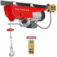 Palan électrique SANS FIL robuste 125/250 kg MW-Tools SH125-R