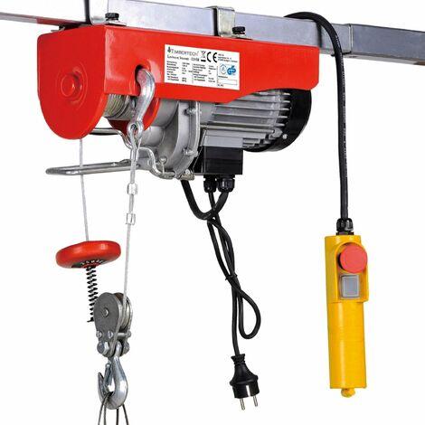 Palan treuil électrique pro avec télécommande 1000 W 200/400 kg outils atelier garage - Noir