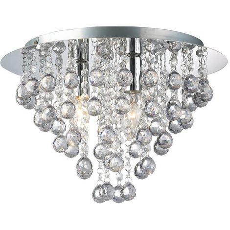 Palazzo 3 Light Round Acrylic Flush Chandelier