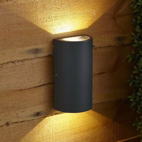 Paldau LED Curvo Biard - Lámpara Empotrable IP54 para Exteriores - Antracita