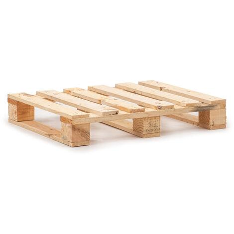 """main image of """"Palet de madera media paleta con 6 tablas de superficie"""""""