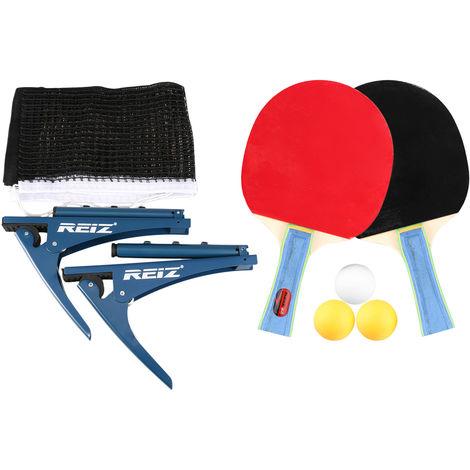 Paleta de ping pong Mesa de ping pong con Set neto fijado para el Entrenamiento Competicion de interior al aire libre
