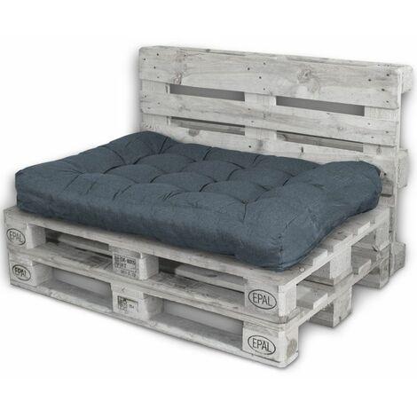 Rückenlehne Kissen.Palettenkissen Palettenauflagen Sitzkissen Rückenlehne Kissen Palette Polster Sofa Couch Dunkelgrau Sitzfläche
