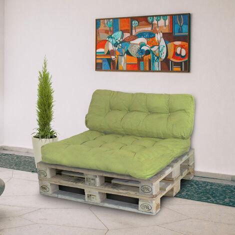 Palettenkissen Palettenauflagen Sitzkissen Rückenlehne Kissen Palette Polster Sofa Couch Grün - Seitenkissen - 16565