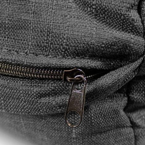 Palettenkissen Palettenauflagen Sitzkissen Rückenlehne Kissen Palette Polster Sofa Couch Set Schwarz - Sitzfläche + Rückenteil + 2x Seitenkissen - 16948