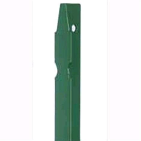 PALETTO a T Altezza 225 cm in Acciaio PLASTICATO VERDE 35X35X4 PAPILLON 5 pz
