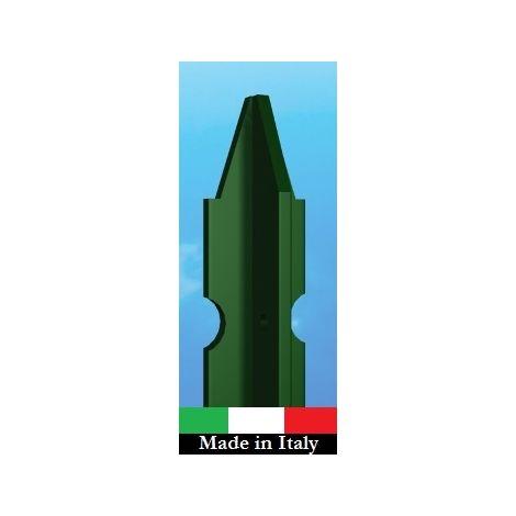 10PZ PALETTO PLASTIFICATO PER RECINZIONI AT SEZIONE MM 30X30X3 ALTEZZA 225 CM VERDE