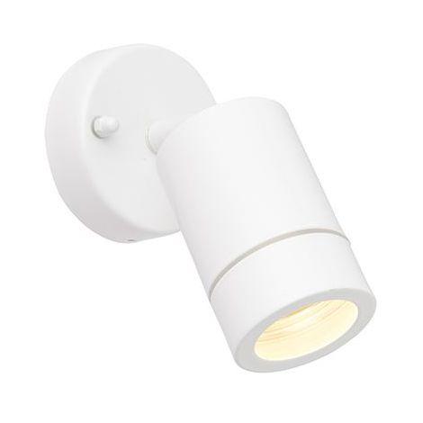Palin Exterior Gloss White Single Ip44 Adjustable Wall Spot Light
