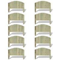 Palizzata Recinzione da Giardino 10 pz Legno FSC 55 cm ad Arco