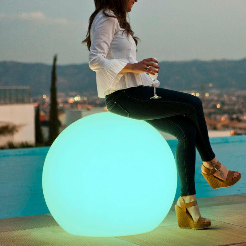 Palla illuminata Buly 78X70 SOLARE E + BATTERIA RICARICABILE SOLARE E + BATTERIA RICARICABILE - Moovere