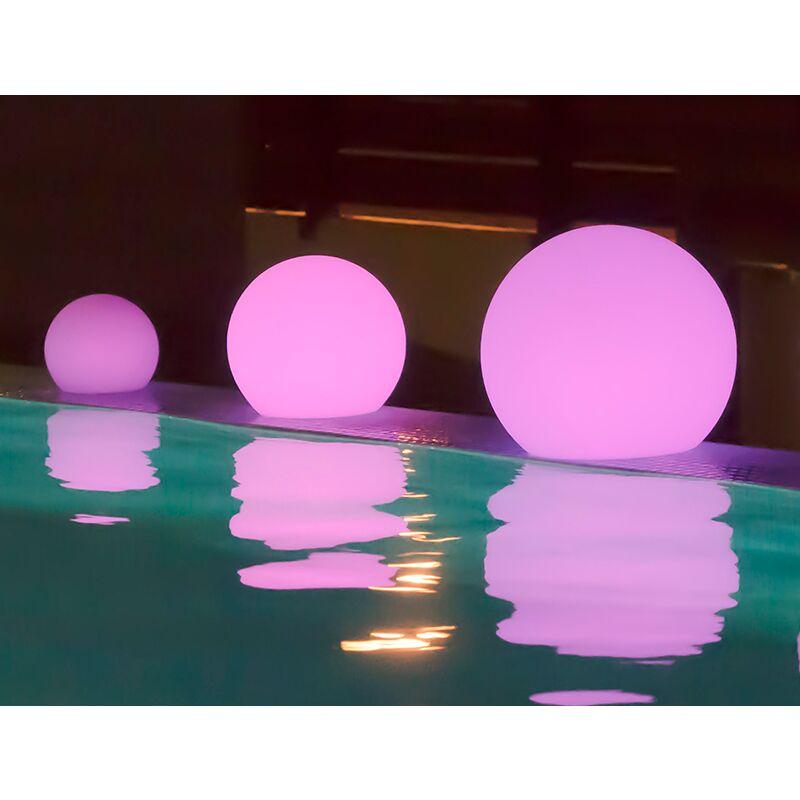 Palla illuminata 50 X 44 CM SOLARE E + BATTERIA RICARICABILE (USO ESTERNO E INTERNO) COLORI RGB + BIANCO FREDDO CALDO E NEUTRO - Moovere