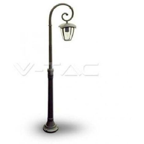 PALLEE DE JARDIN 1 GRANDE LAMPE E27 H.1365 IP44 COULEUR NOIR 7060