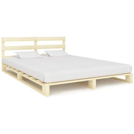 Pallet Bed Frame Solid Pine Wood 140x200 cm