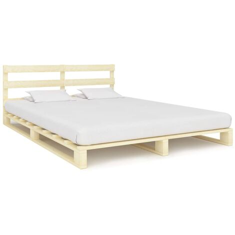 Pallet Bed Frame Solid Pine Wood 200x200 cm