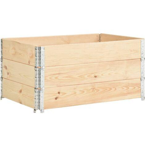 Pallet Collars 3 pcs 80x120 cm Solid Pine Wood