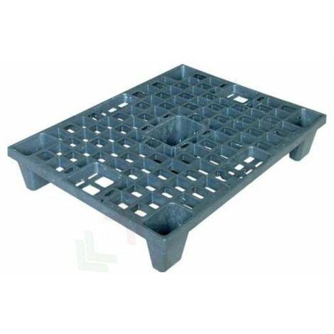 """main image of """"Pallet in plastica riciclata (PP), Mis. 600 L x 800 P x 140 H mm, con 5 piedi, piano forato, portata statica 1100 Kg, portata dinamica 500 Kg"""""""